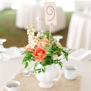 Romantic Pitcher Centerpieces