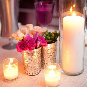 Fleur de Lis Mercury Glass Vase