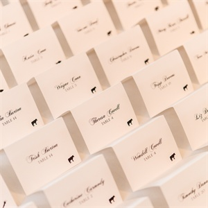 Folded Escort Cards