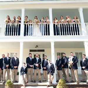 Navy Wedding Party Style