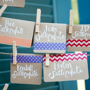 DIY Washi Tape Escort Cards
