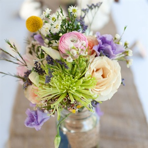Mixed Pastel Flower Centerpieces