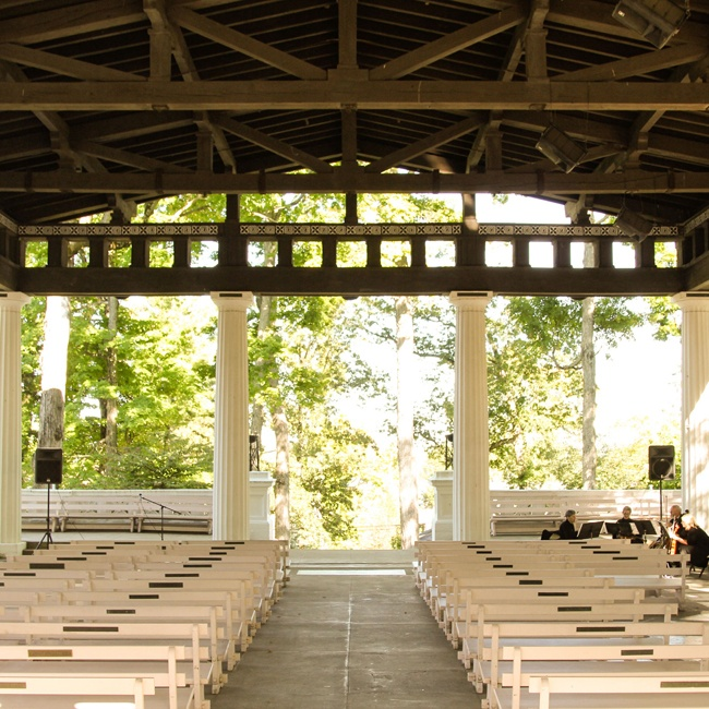Jed and Allison exchanged vows in a traditional pavilion setting at the Chautauqua Institution's Hall of Philosophy.
