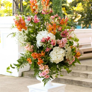 Vibrant Orange Floral Arrangement