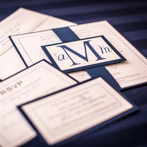 Formal Monogrammed Invitations