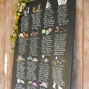 Playful Chalkboard Seating Chart