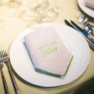 Embroidered Napkin Seating Cards