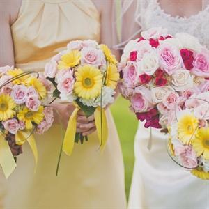 Sunny Bridesmaid Bouquets
