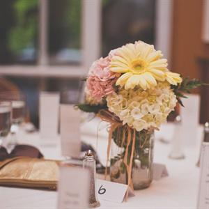 Sweet Pastel Floral Centerpieces
