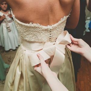 Ivory Alencon Lace Bridal Bodice