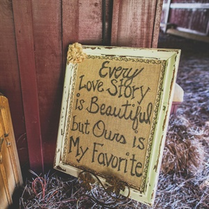 Romantic Burlap Sign