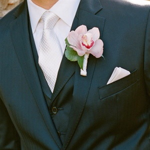 Soft Pink Orchid Boutonniere