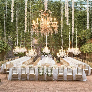 Elegant Island Reception Decor