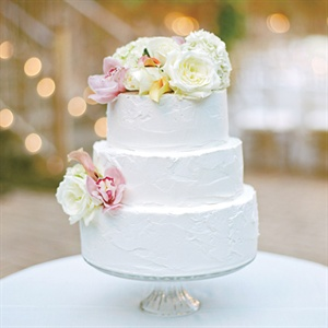 Three-Tiered White Cake