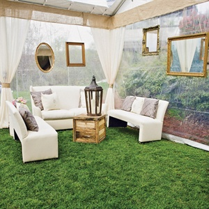 Outdoor-Indoor Tented Lounge Area
