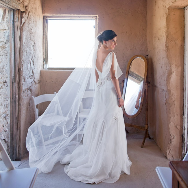 Wedding Invitations Tucson: Anja Wore A Custom Gown Designed By Melissa Sweet
