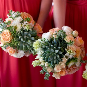 Succulent Bridesmaid Bouquets