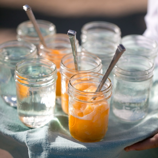 At cocktail hour, guests were treated to a Tucson favorite -- small cups of Eegee's (a frozen fruit drink).