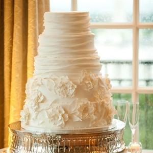 Draped White Cake