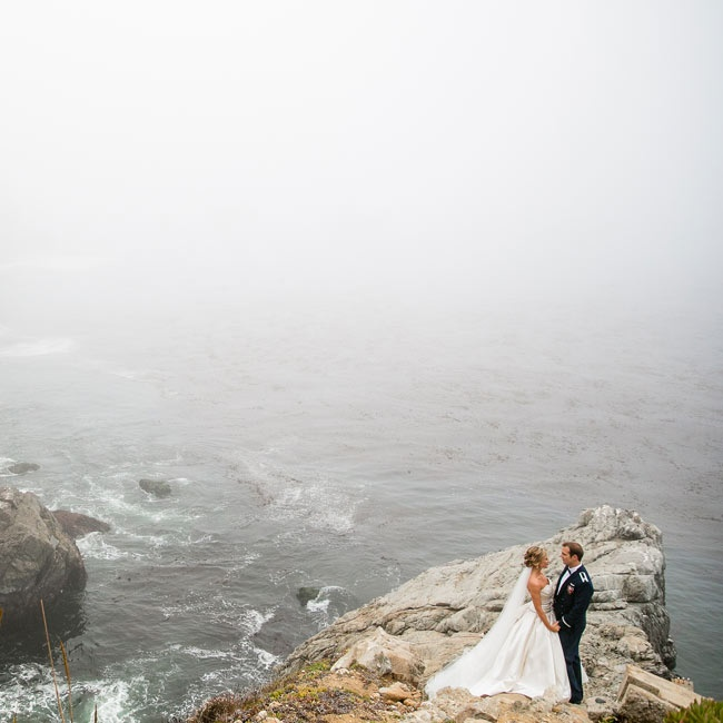 The bride and groom got married in scenic Anderson Canyon in Big Sur, CA.