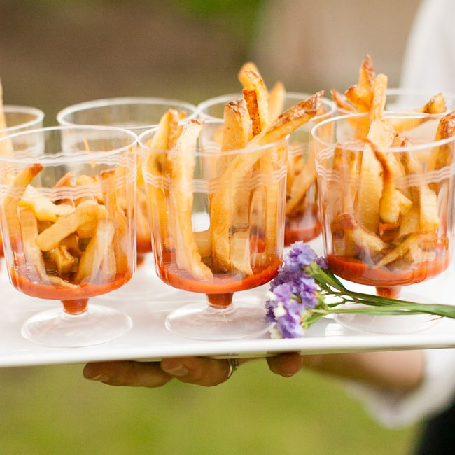 Kim and Jeff made French fries glam with an interesting presentation.