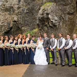 Formal Navy Bridal Party