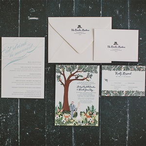 Woodland Themed Invitation Suite