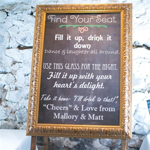 Varied Font Chalkboard Sign