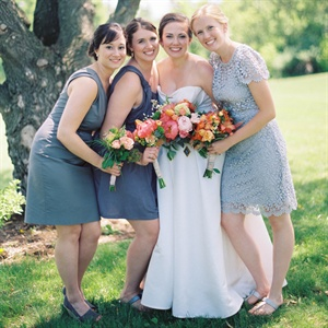 Muted Blue Bridesmaid Dresses