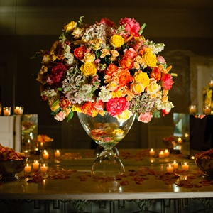 Illuminated Floral Arrangement