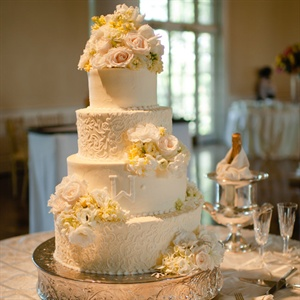 Intricate White Cake