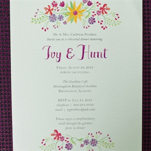 Watercolor Rehearsal Dinner Invite