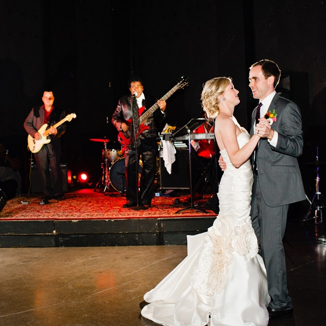 Ivy and Hunt's first dance was to the sounds of Z and the Party Faktory, a local Birmingham band.