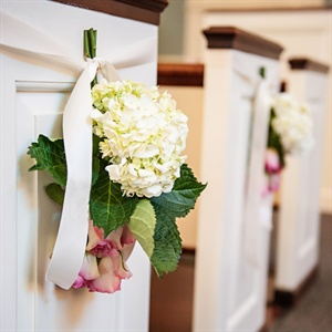 Upside-Down Bouquet Aisle Markers