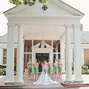 Preppy Mixed Bridesmaids Look