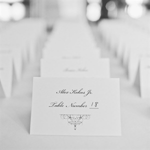 Refined Escort Cards