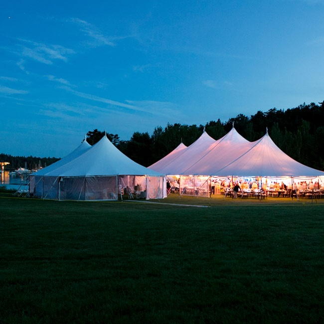 After the sun set lighting provided by Ambience Event Services  kept the couple and their guests celebrating into the evening.