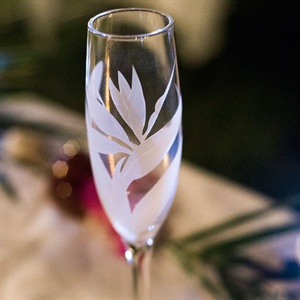 Bird of Paradise Champagne Glass