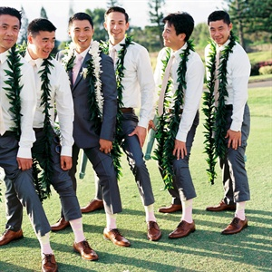 Casual Hawaiian Groomsmen Looks