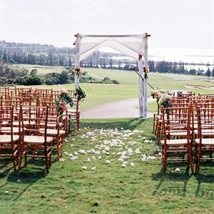 Fabric Draped Wedding Arch