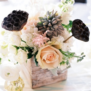Romantic and Rustic Pastel Centerpiece