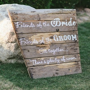 Rustic Ceremony Welcome Sign