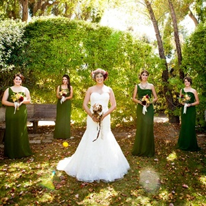 Green One-Shoulder Bridesmaid Dresses