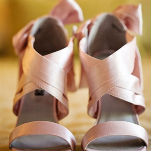 Pink Satin Bridal Shoes