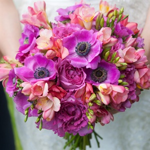 Purple Tropical Bridal Bouquet