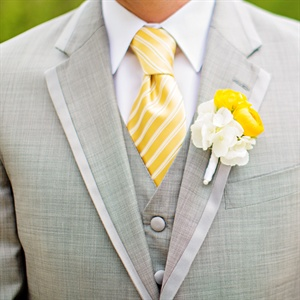 White and Yellow Boutonniere