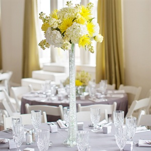 Tall Yellow Centerpiece