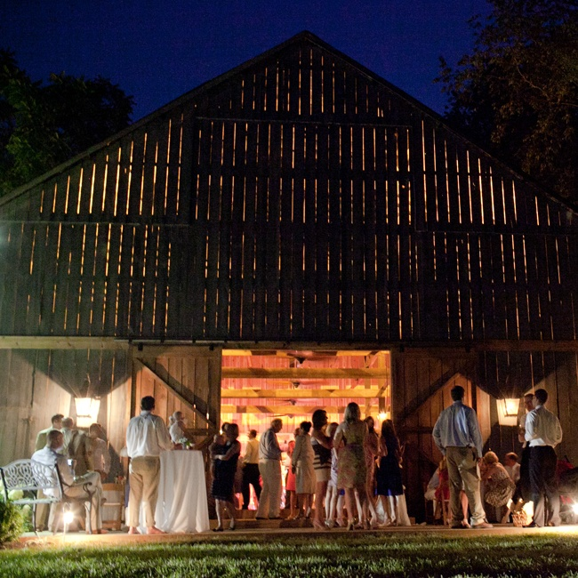 The barn at Three Fields Farm turned into the guest's dance floor.