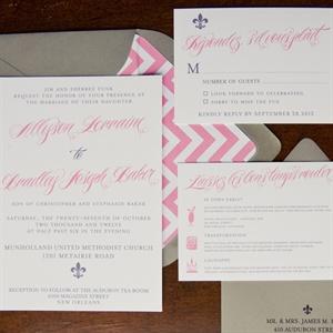Fleur-de-Lis Invitation Suite