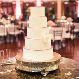 Traditional Cake with Pink Accents